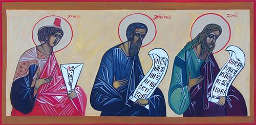 Les grands prophètes Daniel, Jérémie et Isaïe