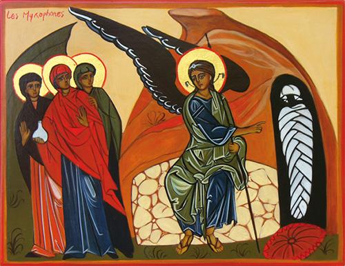 Les saintes Femmes myrophores au Sépulcre