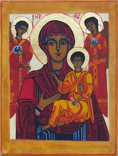 La Mère de Dieu et l'enfant de Tsilkani