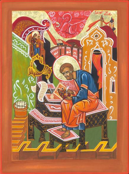 Saint Luc peignant la Vierge Marie